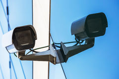 Überwachungskamera und städtisches Video Lizenzfreie Stockfotografie