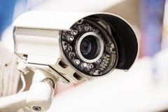 Überwachungskamera und städtisches Video Stockbild