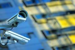 Überwachungskamera und städtisches Video Stockfotografie