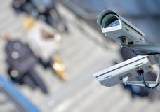 Überwachungskamera und städtisches Video Lizenzfreie Stockfotos