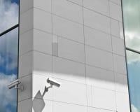 Überwachungskameras auf dem Gebäude Lizenzfreie Stockfotografie