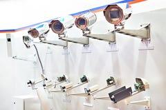 Überwachungskameras mit Thermo Abdeckung lizenzfreies stockfoto