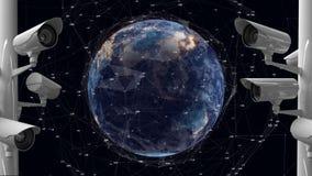 Überwachungskameras und die Erde