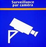 Überwachungskamerazeichen Lizenzfreie Stockfotos