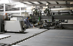 Überwachungsprogramm in der automatischen Fabrik Stockfotos