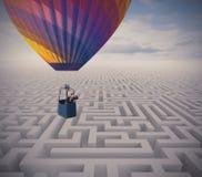 Überwinden Sie Hindernisse stockfotografie