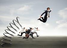Überwinden Sie und erzielen Sie Erfolg Lizenzfreies Stockfoto