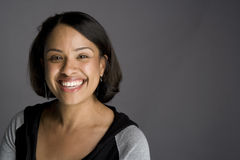 Überzeugte Afroamerikaner-Frau Lizenzfreie Stockfotos