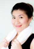 Überzeugte asiatische Frau Lizenzfreies Stockfoto