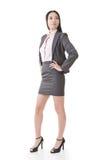 Überzeugte asiatische Geschäftsfrau Stockfotografie
