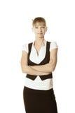 Überzeugte blonde Geschäftsfrau Stockbilder