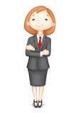 Überzeugte Dame des Geschäfts-3d im Vektor vektor abbildung