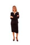 Überzeugte Geschäftsfrau lizenzfreie stockbilder