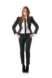 Überzeugte Geschäftsfrau lizenzfreie stockfotografie