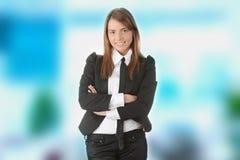 Überzeugte Geschäftsfrau stockfoto