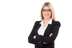 Überzeugte Geschäftsfrau. Stockfotos