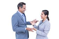 Überzeugte Geschäftsleute Lächeln Stockfotos