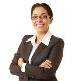 Überzeugte hispanische Geschäftsfrau stockfotografie