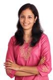 Überzeugte indische Frau Lizenzfreie Stockfotos