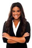 Überzeugte junge reizend Geschäftsfrau Stockfotografie