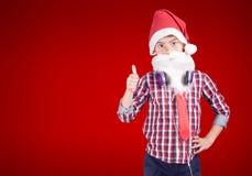 Überzeugte kleine Santa Claus Lizenzfreies Stockbild