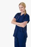 Überzeugte Krankenschwester Lizenzfreie Stockbilder