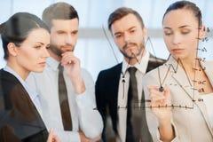 Überzeugte Unternehmensplanung Stockfotos