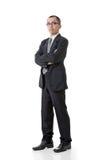 Überzeugter asiatischer Geschäftsmann stockfotografie