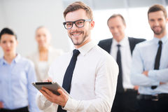 Überzeugter Geschäftsexperte Lizenzfreies Stockbild