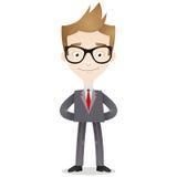 Überzeugter Geschäftsmann mit den Armen hinten unterstützen Lizenzfreies Stockfoto