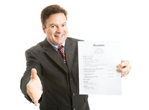 Überzeugter Job-Bewerber Stockbild