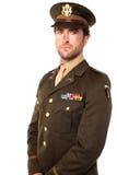 Überzeugter junger Armeemann Lizenzfreies Stockbild
