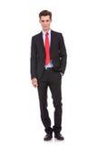 Überzeugter moderner Geschäftsmann Lizenzfreies Stockfoto