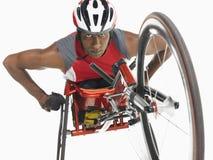 Überzeugter Paraplegiker Cycler Lizenzfreie Stockfotografie