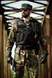 Überzeugter Soldat Stockbilder