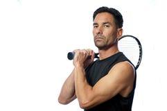 Überzeugter Tennisspieler Stockfotos