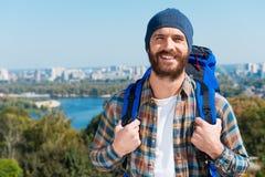 Überzeugter Tourist Lizenzfreie Stockbilder