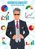 Überzeugter Wirtschaftsanalytiker Lizenzfreie Stockbilder