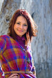 Überzeugtes Frauen-Lächeln Lizenzfreies Stockbild