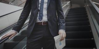 Überzeugtes Geschäfts-Konzept Suit Successful Corporation Lizenzfreies Stockfoto