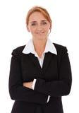 Überzeugtes Geschäftsfrau-Portrait Stockfotos