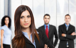 Überzeugtes Geschäftsfrau-Portrait Lizenzfreies Stockbild