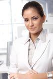 Überzeugtes Geschäftsfrauporträt Lizenzfreie Stockfotografie