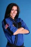 Überzeugtes Karate-Mädchen Lizenzfreie Stockbilder