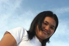 Überzeugtes Lächeln Lizenzfreie Stockfotos
