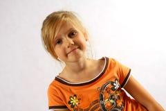 Überzeugtes Mädchen Lizenzfreie Stockfotos