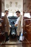 Überzeugtes Pilot-And Copilot In-Cockpit lizenzfreies stockbild