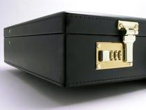 Überziehen Sie Aktenkoffer - 1 mit Leder Lizenzfreie Stockfotos