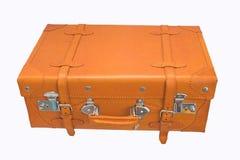 Überziehen Sie Koffer mit Leder stockfotos