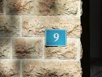 Überziehen Sie mit Nr. neun Lizenzfreie Stockfotografie